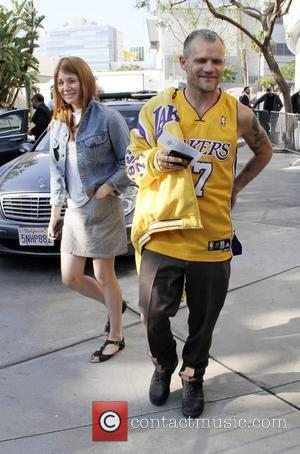 Flea aka Michael Balzary of the Red Hot Chili Peppers arriving at the Staples Center to watch the LA Lakers...