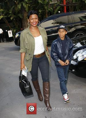 Nia Long  arriving at the Staples Center to watch the LA Lakers vs The Phoenix Suns.  Los Angeles,...