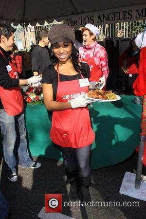 Angell Conwell Christmas Eve at the Los Angeles Mission. Los Angeles, California - 24.12.09