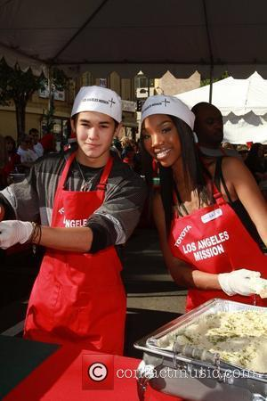 Brandy Celebrities volunteer on Christmas Eve to serve the homeless at the Los Angeles Mission. Los Angeles, California - 24.12.10