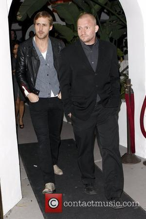 Ryan Gosling leaving La Vida restaurant in Hollywood with a friend after attending a party thrown by Quentin Tarantino Los...