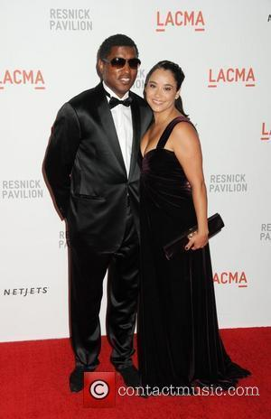 Kenny Babyface Edmonds and guest Opening Gala and unmasking of the Resnick Pavilion at LACMA (the Los Angeles County Museum...