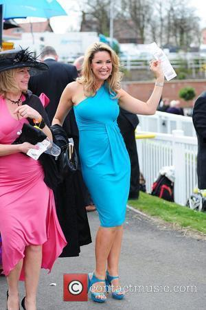 Claire Sweeney 'Ladies Day' at the horse racing meeting at Aintree Race Course Liverpool, England - 09.04.10