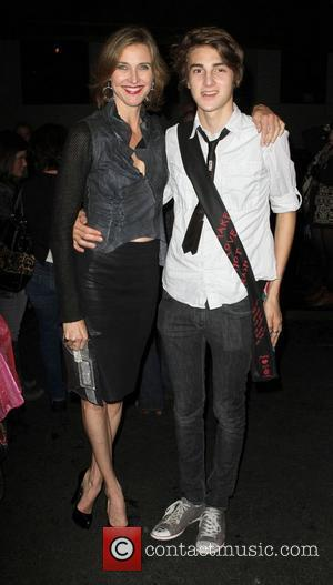 Brenda Strong and son Zach Henrie Los Angeles Fashion Week Spring/Summer 2011- WTB Collection - backstage Hollywood, California - 17.10.10