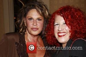 Lainie Kazan and Bette Midler Tribute Artist Donna Maxon (Beaches reunion) Opening night reception for 'Lainie Kazan In Concert' at...