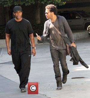 Denzel Washington and Lenny Kravitz