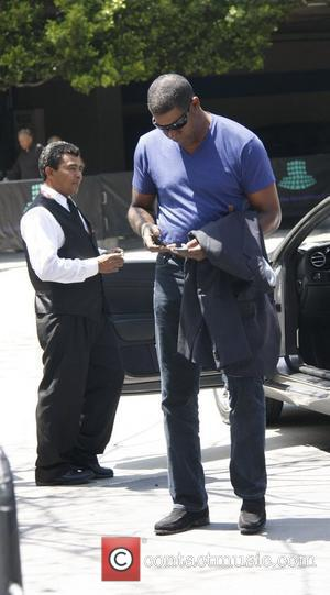 Dennis Haysbert celebrities attending the Lakers game at the Staples Center  Los Angeles, USA - 02.05.10