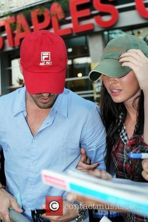 Brian Austin Green and Megan Fox Celebrity arrivals at the Staples Center for game two of the NBA championship between...