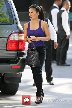 Michelle Kwan Celebrities arriving at the Staples Center to watch Los Angeles Lakers vs. Boston Celtics Game 7 of the...