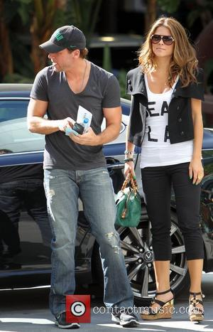 Dane Cook and Maria Menounos Celebrities arriving at the Staples Center to watch Los Angeles Lakers vs. Boston Celtics Game...