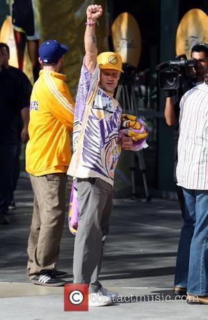 Flea Celebrities arriving at the Staples Center to watch Los Angeles Lakers vs. Boston Celtics Game 7 of the NBA...