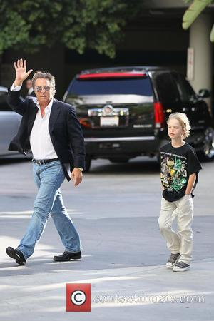 Don Johnson and son Celebrities arriving at the Staples Center to watch Los Angeles Lakers vs. Boston Celtics Game 7...