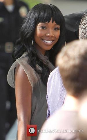 Brandy Celebrities arriving at the Staples Center to watch Los Angeles Lakers vs. Boston Celtics Game 7 of the NBA...