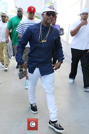 Omarion and Chris Brown Celebrities arriving at the Staples Center to watch Los Angeles Lakers vs. Boston Celtics Game 7...