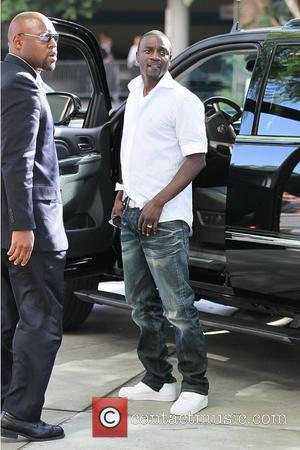 Akon Celebrities arriving at the Staples Center to watch Los Angeles Lakers vs. Boston Celtics Game 6 of the NBA...