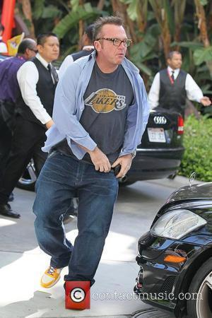 Tom Arnold Celebrities arriving at the Staples Center to watch Los Angeles Lakers vs. Boston Celtics Game 6 of the...