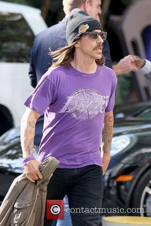Anthony Kiedis Celebrities arriving at the Staples Center to watch Los Angeles Lakers vs. Boston Celtics Game 1 of the...