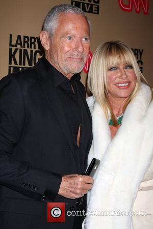 Alan Hamel, Suzanne Somers  'Larry King Live' final show wrap party held at Spago - Arrivals Los Angeles, California...