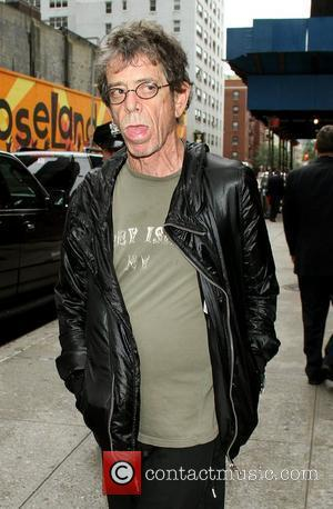 Lou Reed outside The Ed Sullivan Theater for 'The Late Show' with David Letterman Show New York City, USA -...