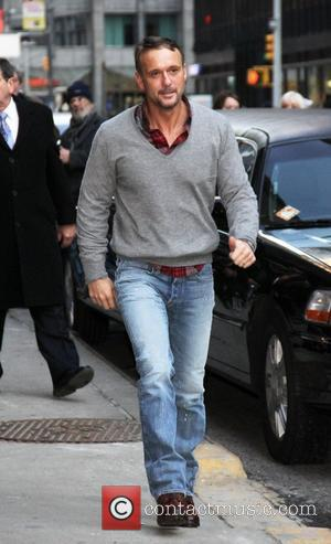 Tim McGraw outside The Ed Sullivan Theater for 'The Late Show with David Letterman'.  New York City, USA -...