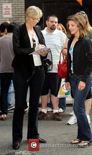Jane Lynch and David Letterman