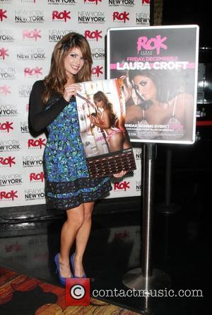 Laura Croft signs copies of her 2011 Calendar at Rok nightclub inside the New York New York Resort & Casino...