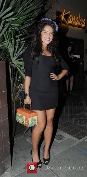 2008 X-Factor finalist Laura White is seen leaving Kanaloa Bar and Grill in London London, England - 12.08.10