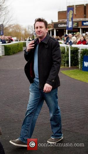 Lee Mack attends the horse racing at Kempton Park Racecourse. Surrey, England - 15.01.11