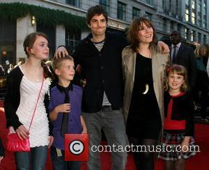Jim Sturgess and Mickey O'Brien with children The UK premiere of 'Legend of the Guardians: The Owls of Ga'hoole' held...