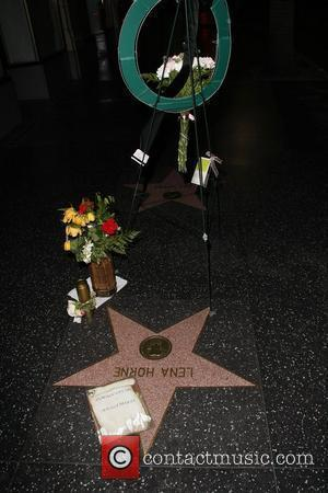 Flowers Are Placed On Lena Horne's Star On The Walk Of Fame Following Her Death On 9th May