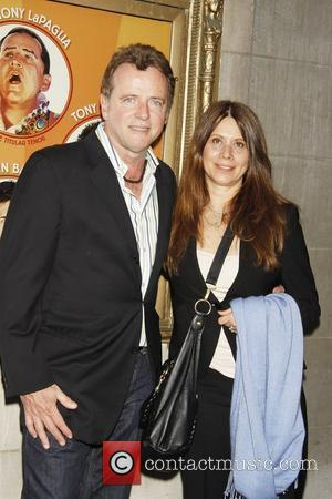 Aidan Quinn and his wife Elizabeth Bracco-Quinn attending the opening night of the Broadway play 'Lend Me A Tenor' at...