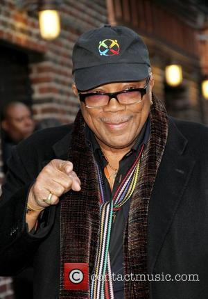 Quincy Jones,  outside The Ed Sullivan Theater for 'The Late Show with David Letterman'.  New York City, USA...