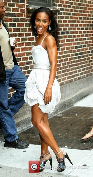 Jada Pinkett-smith and David Letterman