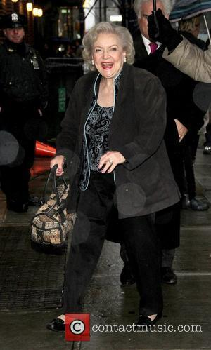 Betty White outside The Ed Sullivan Theater for 'The Late Show with David Letterman'. New York City, USA - 18.01.11