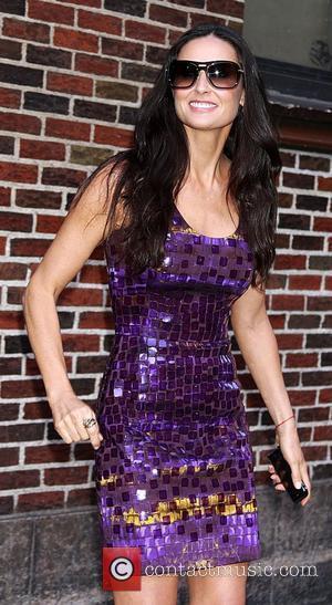 Demi Moore and David Letterman