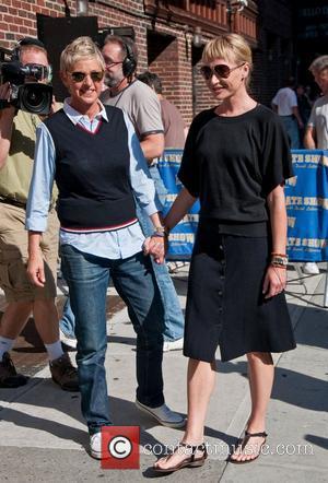 Ellen Degeneres and Ed Sullivan