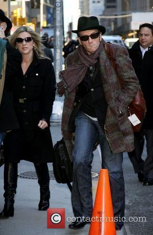 Diana Krall and Elvis Costello Celebrities outside The Ed Sullivan Theater for 'The Late Show with David Letterman' New York...