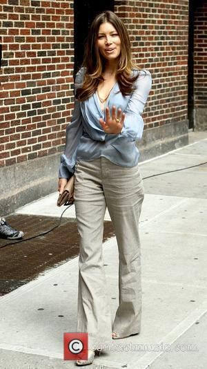 Jessica Biel and David Letterman