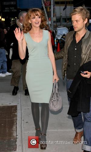 Jayma Mays outside The Ed Sullivan Theater for 'The Late Show with David Letterman' New York City, USA - 08.12.10