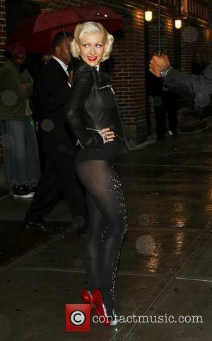 Christina Aguilera and David Letterman
