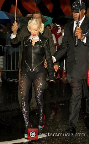 Christina Aguilera Celebrities at the Ed Sullivan Theater for the 'Late Show With David Letterman' New York City, USA -...