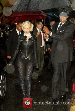 Christina Aguilera and David Letterman