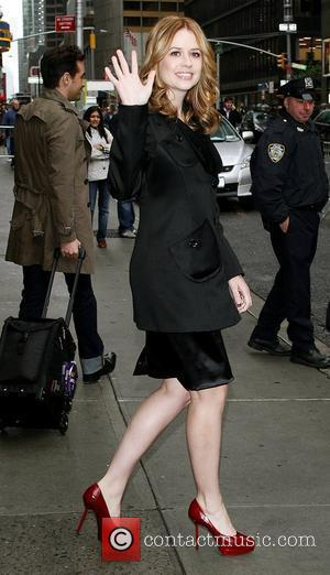 Jenna Fischer outside Ed Sullivan Theatre for the 'Late Show With David Letterman' New York City, USA - 12.05.10
