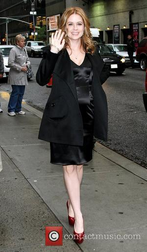 Jenna Fischer and David Letterman
