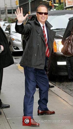Michael Keaton and David Letterman