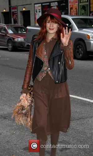 Florence Welch of Florence and the Machine outside The Ed Sullivan Theater for 'The Late Show with David Letterman'...