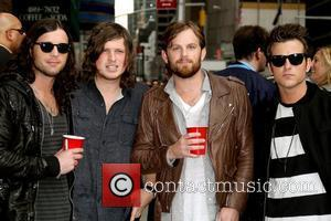 Kings of Leon Celebrities outside The Ed Sullivan Theater for 'The Late Show with David Letterman' New York City, USA...