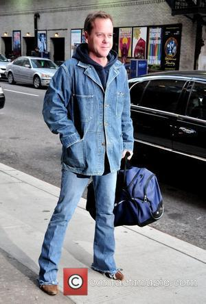 Keifer Sutherland and David Letterman
