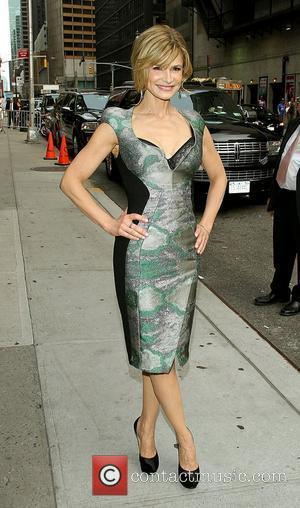 Kyra Sedgwick,  outside the Ed Sullivan Theatre for the 'Late Show With David Letterman' New York City, USA -...