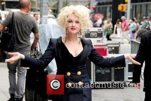 Cyndi Lauper outside The Ed Sullivan Theater for 'The Late Show' with David Letterman Show New York City, USA -...